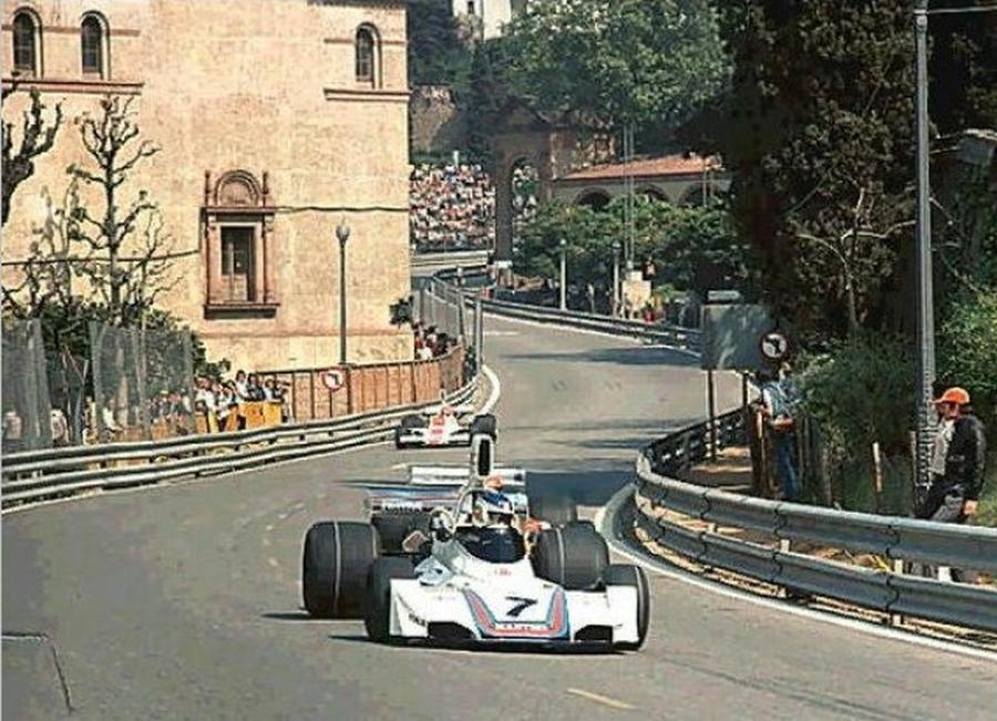 Montjuïc 1975 - Carlos Martini Brahbar Ford BT44B